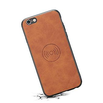 حقيبة هاتف جلدي مع حامل  لiPhone7/8 البني الرجعية