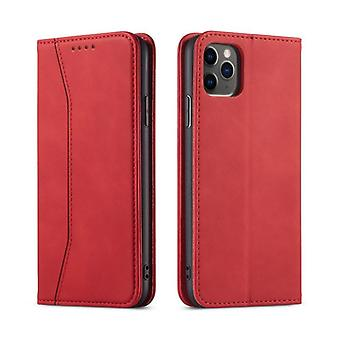 Flip folio leather case for samsung s20 ultra red pns-4560
