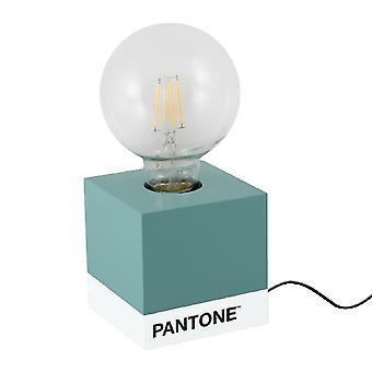 PANTONE Lampada da Tavolo Cube Colore Azzurro, Bianco, Nero, in Legno L9,5xP9,5xA9,5 cm