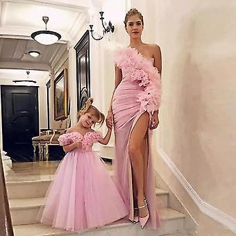 Ένας ώμος μητέρα και κόρη prom φορέματα
