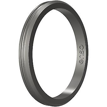 Enso Rings Halo Contour Elements Series Silicone Ring - Platino