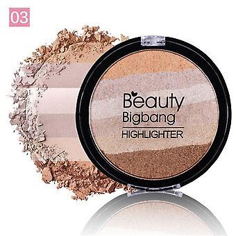 Maquillaje facial Rainbow Iluminador Highlighter Powder Palette Bronzer Contour | Bronceadores y marcadores
