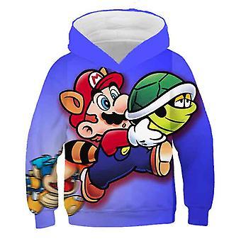 3d Print, Super Mario Cartoon Hooded Sweatshirt voor Set-15