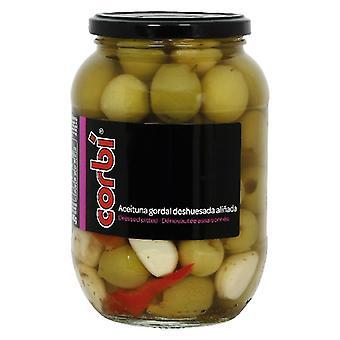 Oliven Corb Knochenlos und gewürzt mit einem Hauch von Gewürz (850 ml)