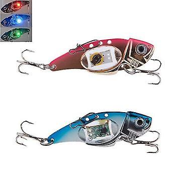2pc VIB 80mm 32g فلاش LED ضوء الطعم الصيد إغراء ضوء مصباح الصيد الإلكترونية