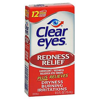 Med Tech Products Clear Eyes Redness Relief Lubricant Eye Drops, 0.5 oz