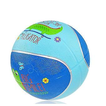 Mini baloncesto de toy, coloridos niños mini baloncesto de baloncesto de juego baketball de goma para niños (AZUL)