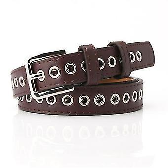 Nový kovový celoduchový designový pás pás bez perforace Všestranná módní dutá dekorativní