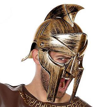 الخوذة الرومانية ذكر المصارع الذهبي