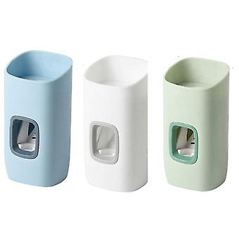 3 Piece wall mount automatic toothpaste dispensers