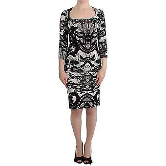 Black Printed Sheath Dress
