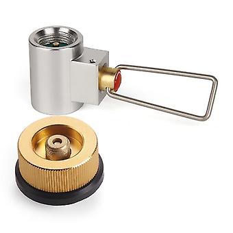 תנור קמפינג חיצוני למלא מתאם מתאם גז שטוח שסתום ממיר גז מחלף גליל מילוי מתאם