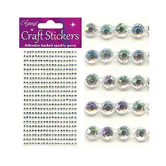 418 Iriserende Selvklebende 3mm Craft Juveler | Diamante Edelstener Utsmykning