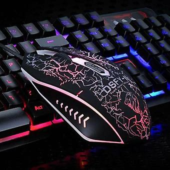 Backlight LED Wired Rainbow Mechanical Gaming Keyboard & Mouse Set for PC Laptop