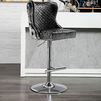 Velvet Bar Chaises Tabouret Réglable 360 degrés Swivel Gaz Lift Barstool