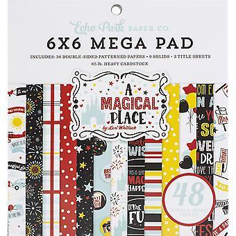 """Echo Park Double face Mega Paper Pad 6""""X6» 48/Pkg - Un endroit magique"""