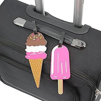Taca bagażowa tag różowy ice cream stick ice cream trip