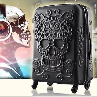 עיצוב גולגולת תלת-ממדי חרוט עגלת מזוודות מתגלגלת