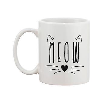 Meow søde keramikkrus Kitty ansigt kaffekop perfekte gaver ideer til kat bejlere