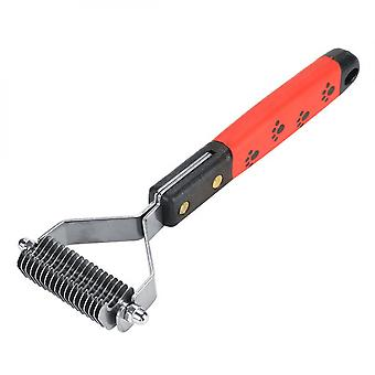Pet Hair Comb Stainless Steel Pin Grooming Deshedding Tool For Dogs Cats Long Hair