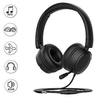 Lightweight Foldable Kids Headphone(Black)