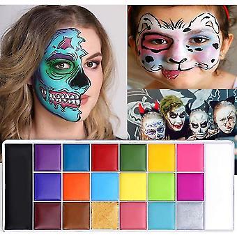 Halloween 20-värinen face paint body maalaus öljy maalisset