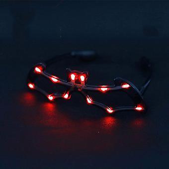 Bat Valovoimaiset led-lasit Neon Party Led Light Up Eyeglasses Cosplay Halloween Dj Party