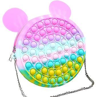 Push Pop Fidget Spielzeug Anhänger Tasche Bubble Sensory Spielzeug