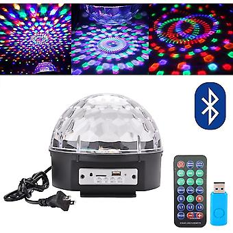 Bluetooth Speaker 8.6 Inch Super Led Strobe Bulb Multi-color Crystal Stage Light, Wireless Speaker With Party Dance Light, Music Player Magic Ball