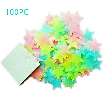 Leuchten Sie in den dunklen Sternen 100 Glühen Aufkleber Schlafzimmer Wand Decke Aufkleber Zimmer Aufkleber Wandkunst(100pc)