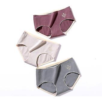 6pcs נשים מוצק תחתוני כותנה תחתון תחתונים