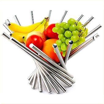 Fruit Basket Collapsible Stainless Steel Kitchen & Dinning Table Decoration