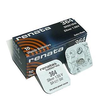 Renata Battery - 364 - Pack of 10 (SR621SW)