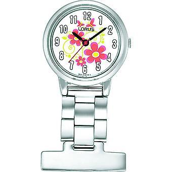 Lorus mujer plata acero inoxidable cuarzo Fob Watch (RG237HX9)