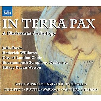 Finzi/Holst/Williams/Howells/Matthias - In Terra Pax: A Christmas Anthologie [CD] USA Import