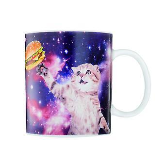 Gatto in spazio tazza di caffè tazza caffè a gatto