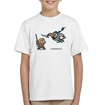 Clash Of The Titans He Man Khal Drogo Game Of Thrones Kid's T-Shirt