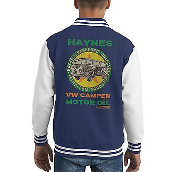 Haynes Brand VW Camper Motor Oil Kid's Varsity Jacket