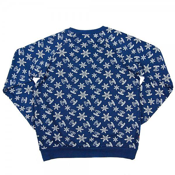 Star Wars Star Wars: Womens Retro entier Noël impression Sweatshirt bleu