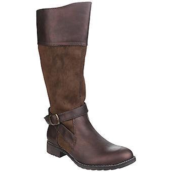 Divaz Womens Garbo Zip Up Boot Brown
