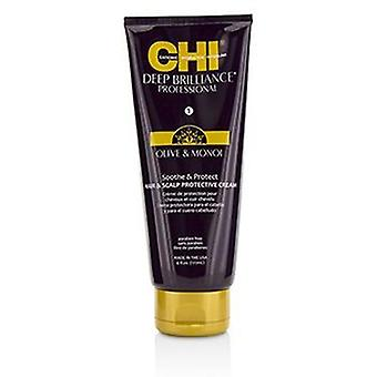 Chi Deep Brilliance Olive & Monoi Soothe & Protect Hair & Scalp Protective Cream - 177ml/6oz