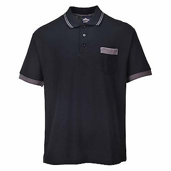 Portwest - Texo Classic Workwear Uniform Lightweight Comfort Contrast Polo Shirt