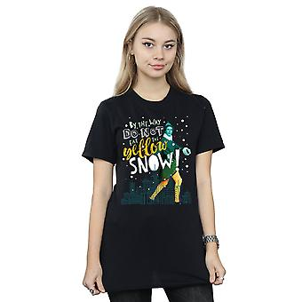Nieve amarillo novio Fit camiseta elfo mujer