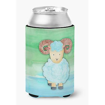 Carolines Treasures  BB7418CC Ram Sheep Watercolor Can or Bottle Hugger