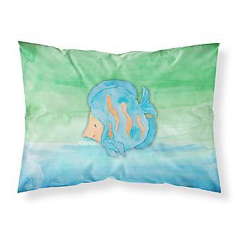 Blå fisk akvarel stof Standard pudebetræk