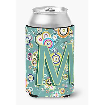 Buchstabe M Kreis Kreis Petrol / erste Alphabet Dose oder Flasche Hugger