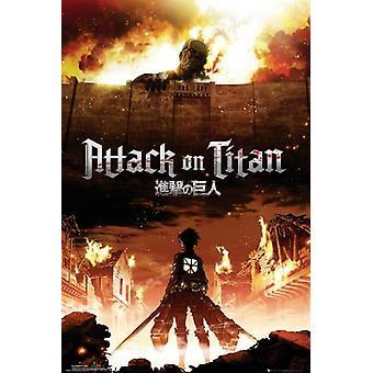 Ataque en Titan - cartel japonés Poster Print