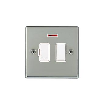 Hamilton Litestat Hartland Bright Stainless Chrome 13A DP Fused Spur + Neon WH/WH