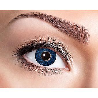 Azul negro con motivos naturales lentes de contacto