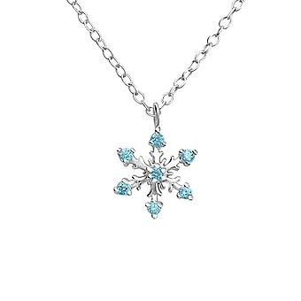 Snowflake - 925 Sterling Silver Jewelled Necklaces - W24660X